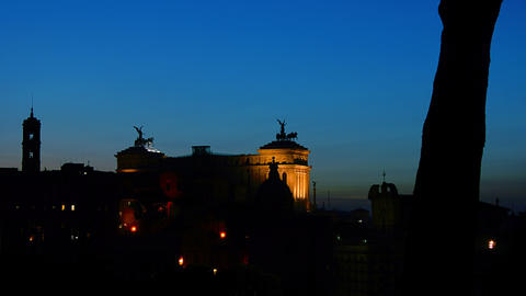 Italian National Monument. Rome. Time Lapse In The stock footage