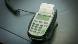 Card Payment Machine Or PDQ Machine stock footage