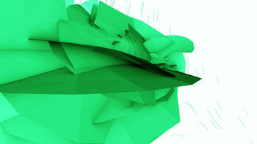 Abstract High Tech Green Geometry Deformation,patch Silicon Debris Background stock footage
