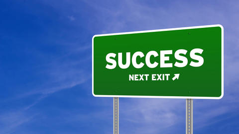 Success Road Sign stock footage