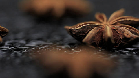 Star Anise Spice Food Styleing stock footage