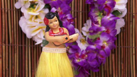 Hula Dancer Doll stock footage