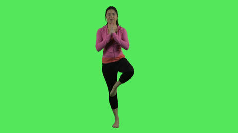 Female Practising Yoga stock footage