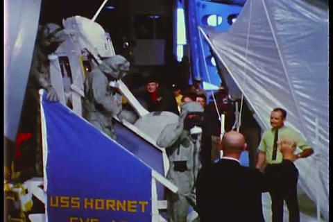 Astronauts from Apollo 11 make a triumphant return Footage