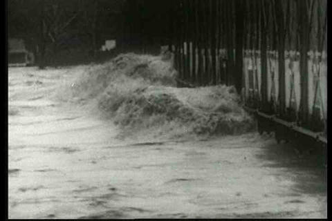 Flooding And Disaster Lead To The Founding Of The  stock footage