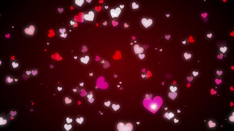 Loopable Shooting Heart Red HD stock footage