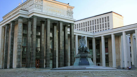 Russian State Library, Moscow Footage