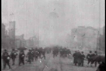 Footage From 1906 Of The Damage From The San Franc stock footage
