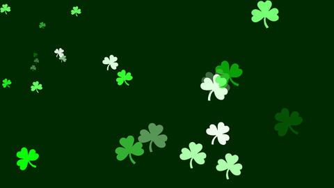 Bunch Of Clovers Are Drifting Across Screen (high Definition 1080p) stock footage