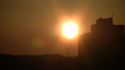Sunset In The City stock footage
