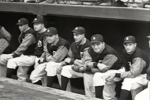 The Detroit Tigers Win A Big Game In 1934 And The  stock footage