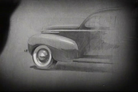 Soybeans are used in car manufacturing in 1938 Footage