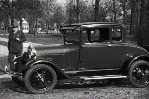 Irvin S. Cobb, Humorist And Writer, Drives A Ford  stock footage