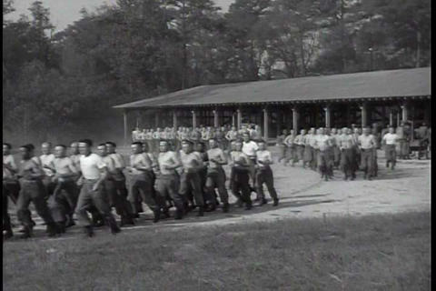 Paratroopers Are Trained At Ft. Benning, Georgia I stock footage