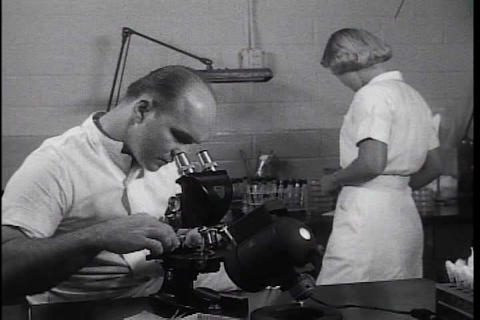 Advances in treating burn victims in the 1950s Footage
