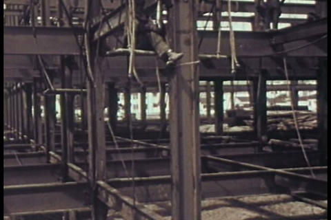 Steel Is The Answer To Reinforcing And Constructio stock footage