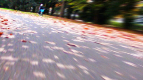 Cycling HD 02 Mov It Runs ..ground It Close stock footage