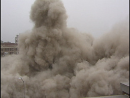 Allis Hotel Implosion stock footage