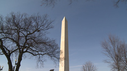 U.S. Washington Monument stock footage