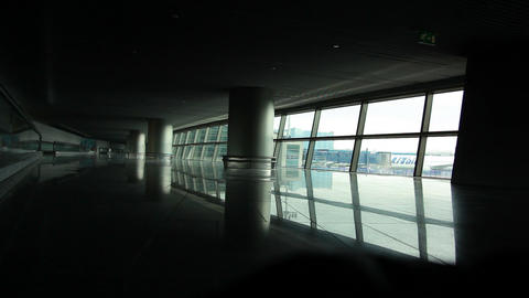 Lonely Airport stock footage