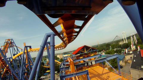 Rollercoaster 2 stock footage