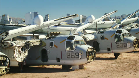 Military Aircraft Boneyard Footage