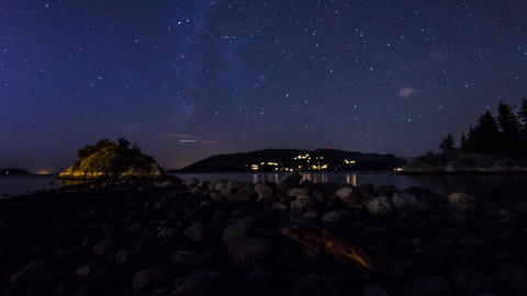 Milky Way Shot At Whytecliff Park stock footage