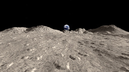 Moon Landscape Animation Stock Footage stock footage