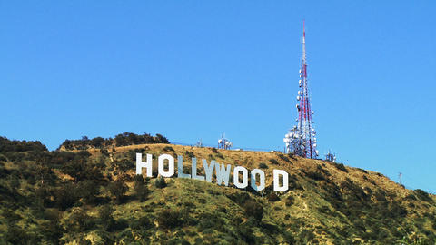 Hollywood Sign, Wide Shot Footage