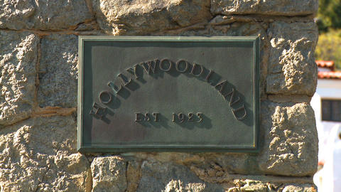 Hollywoodland Plaque Slow Zoom Footage
