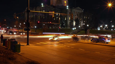Denver Rush Hour at the Colorado State Capitol Footage