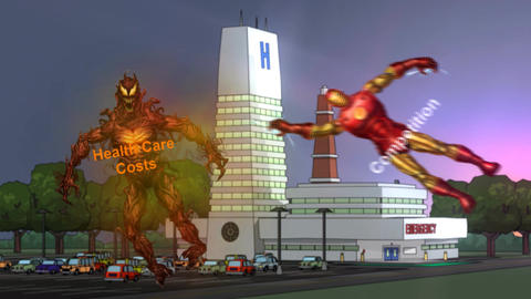 "Beast of ""Health Care Costs"" Vanquished by Super H Animation"