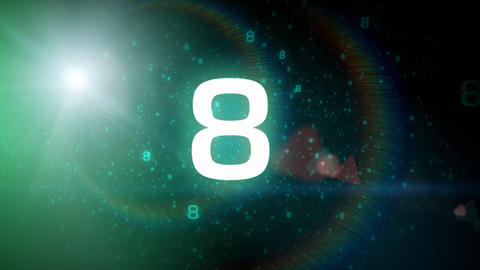 Space Countdown stock footage