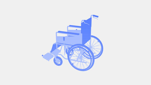 Wheelchair Rotate I CG動画素材