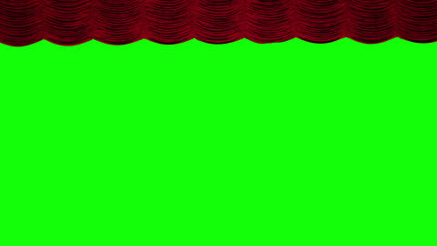 Red theater curtain rise/open Animation