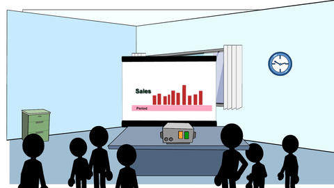 Sales Rising & Falling: Animated + Looping stock footage