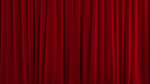 Crazy Theater Curtain Falls Rapidly. Chroma Key stock footage