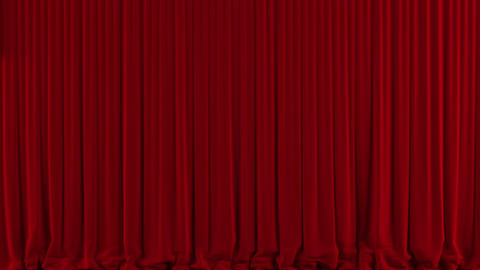 Red Theater Curtain Down/close stock footage