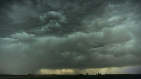 Storm Cell Over Field stock footage