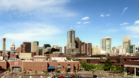Downtown Denver And Auraria Campus At Nightfall stock footage