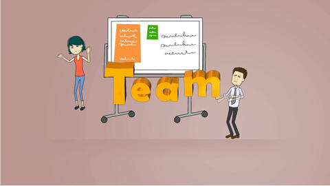 Working As A Team, Animation stock footage
