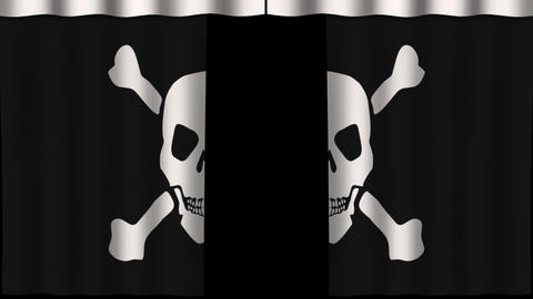 Paper Curtain - Jolly Roger stock footage