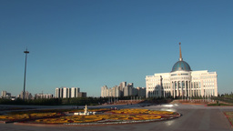 Presidential Palace In Astana Kazakhstan stock footage