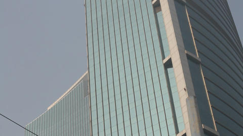 Plaza 66 Building In Jing'an Shanghai (xmas) stock footage