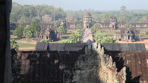 Angkor Wat stock footage