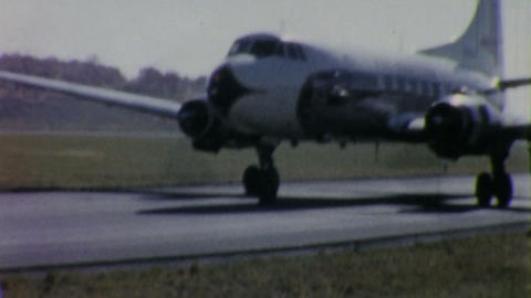 Eastern Airlines Airplane Prepares To Take Off 195 stock footage