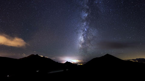 4k UHD Clouds And Milky Way Time Lapse 11319 stock footage
