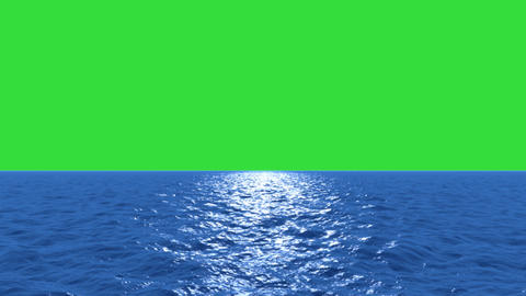 Water Fly Low With Green Screen stock footage