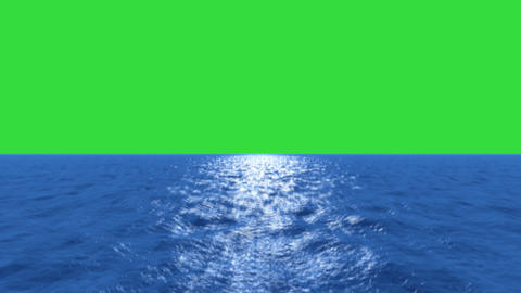 Water Fly Low Tilt Up Green Screen stock footage