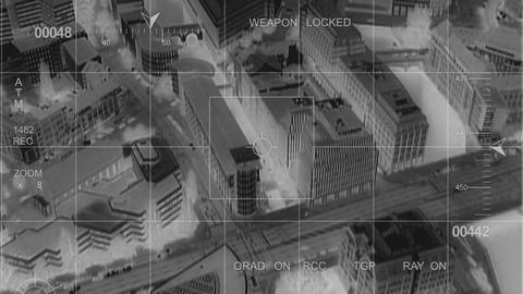 Infrared Big City Observation stock footage